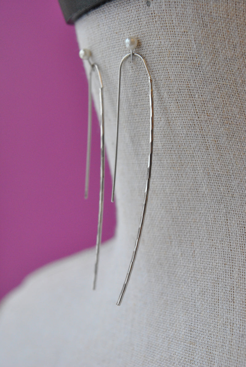 WIRE SIMPLE EARRINGS - SILVER