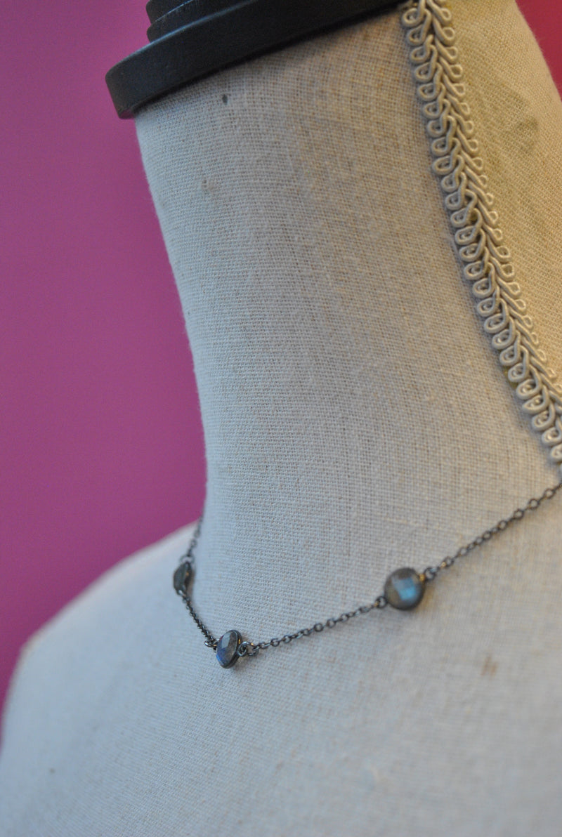 LABRADORITE LINKS DELICATE NECKLACE