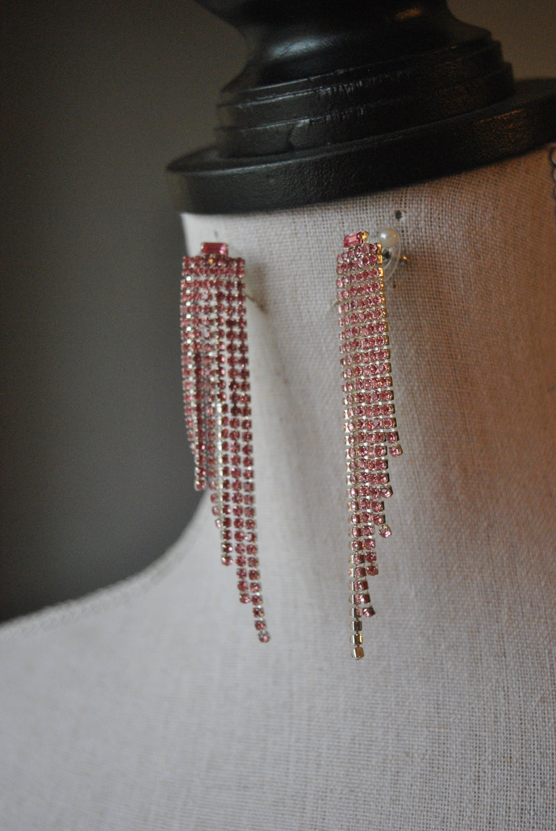 FASHION COLLECTION - BLUSH PINK CRYSTALS EARRINGS