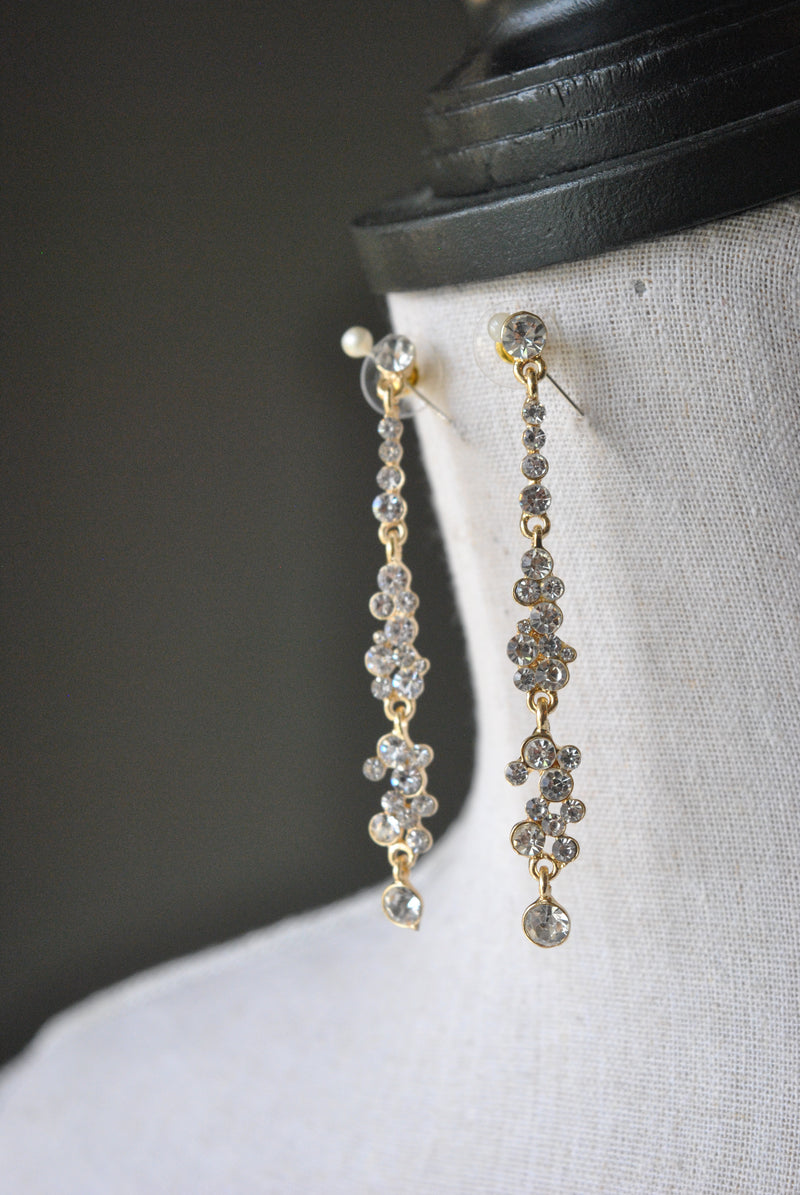 FASHION COLLECTION - CLEAR CRYSTALS ON GOLD DELICATE
