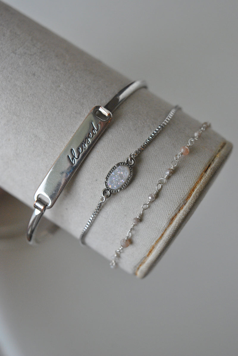 KASHMERE BRACELETS COLLECTION - MOONSTONE AND DRUZY