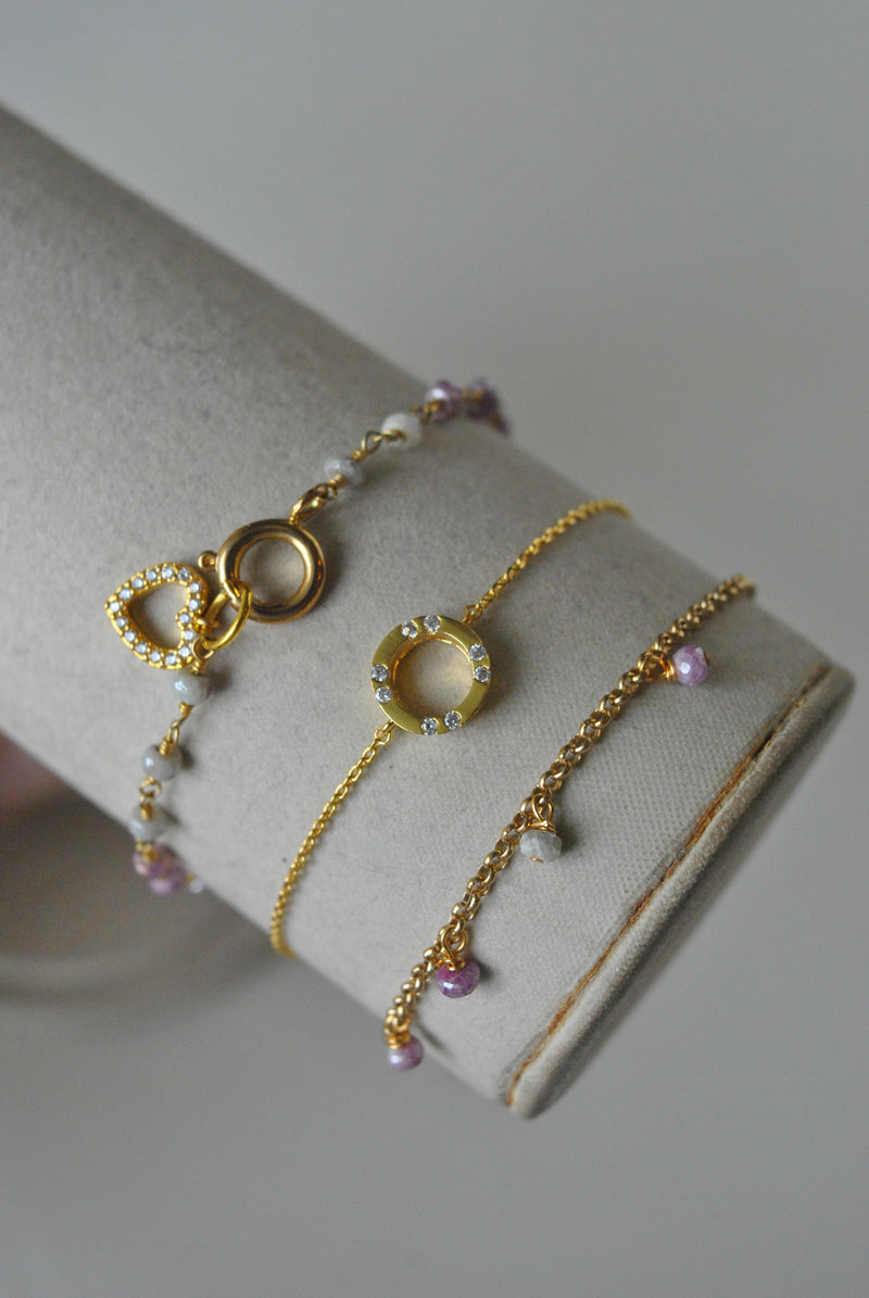 KASHMERE BRACELETS COLLECTION - PINK MOONSTONE