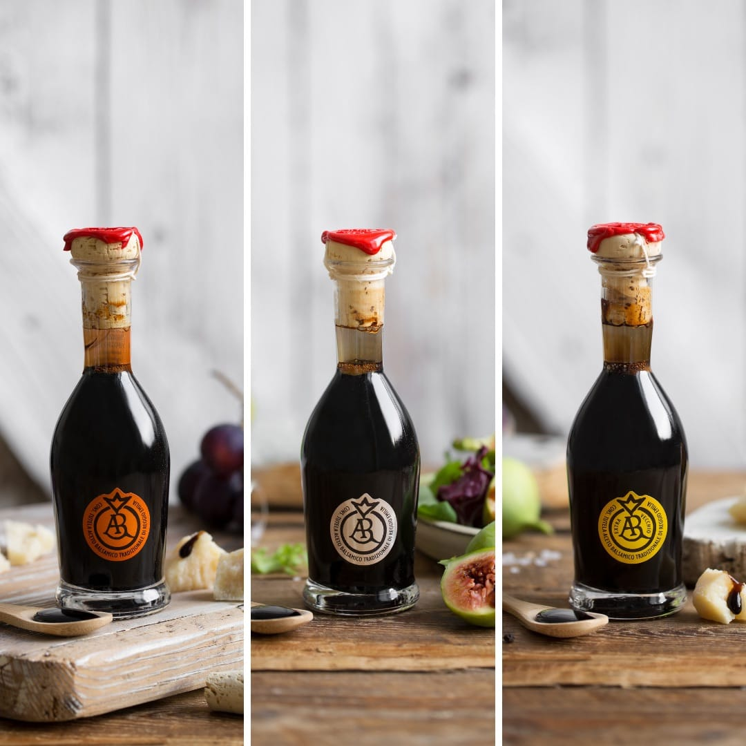 Traditional DOP Balsamic Vinegar of Reggio Emilia Lobster, Silver and Gold Stamp