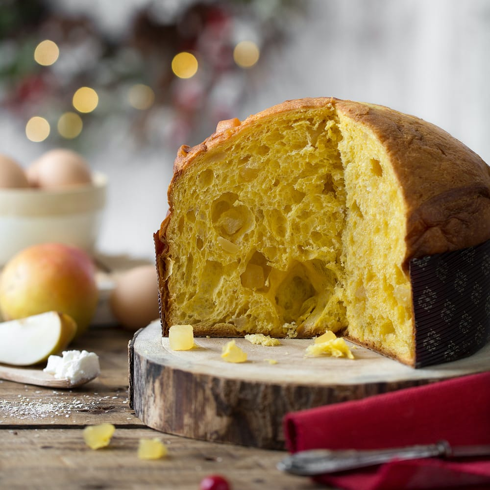Panettone with Ricotta and Pears