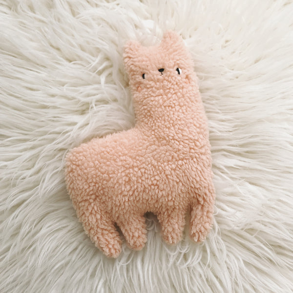 Strawberry Pie the Alpaca - sleepy king