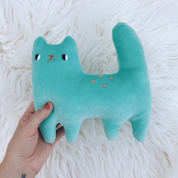 Teal Organic cotton cat