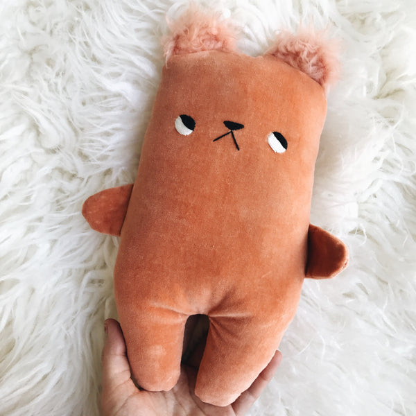 Marmalade the velveteen bear with furry ears! Pre Order - sleepy king