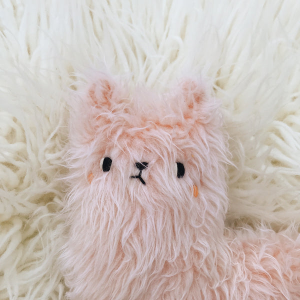 Rose Quartz the Fuzzy Alpaca - sleepy king