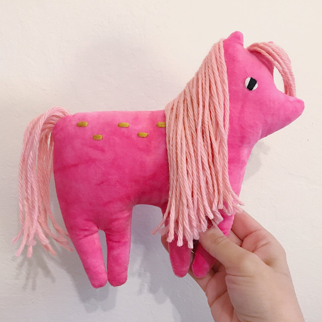 Candy the velveteen pony - Pre Order - sleepy king