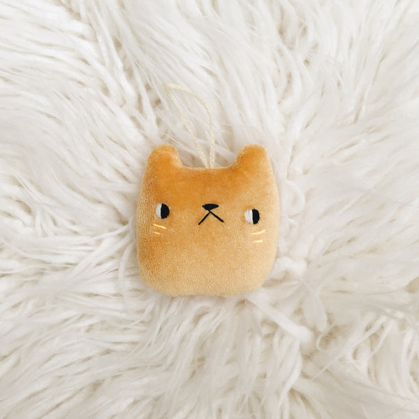 Tangerine Cat Ornament - sleepy king
