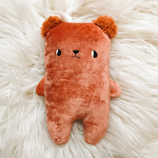Tomato the Organic Bamboo Bear with Furry Ears - sleepy king
