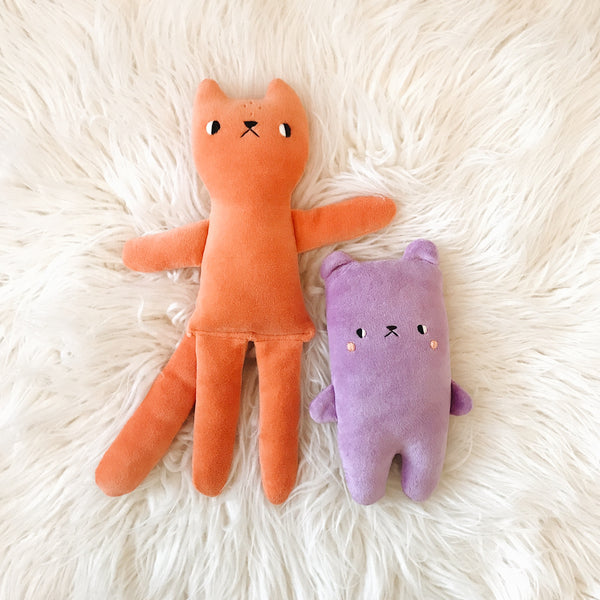 Tangerine the Tall Cat Doll - sleepy king