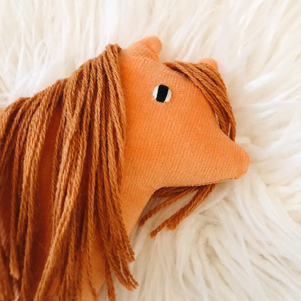 Persimmon the corduroy pony - sleepy king