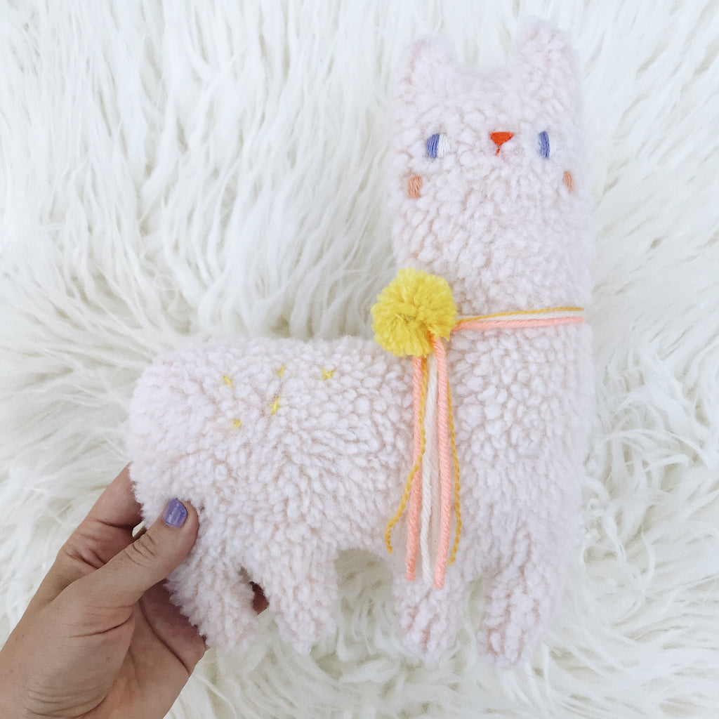 Macaroon the Alpaca 〰️ Ready to Ship - sleepy king
