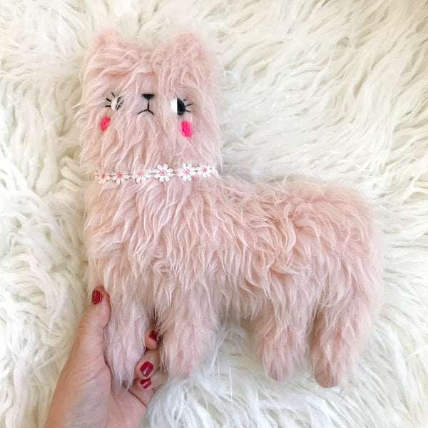 New! Limited Edition Valentine's Day - Pink Sugar the rose quartz faux fur alpaca - PREORDER