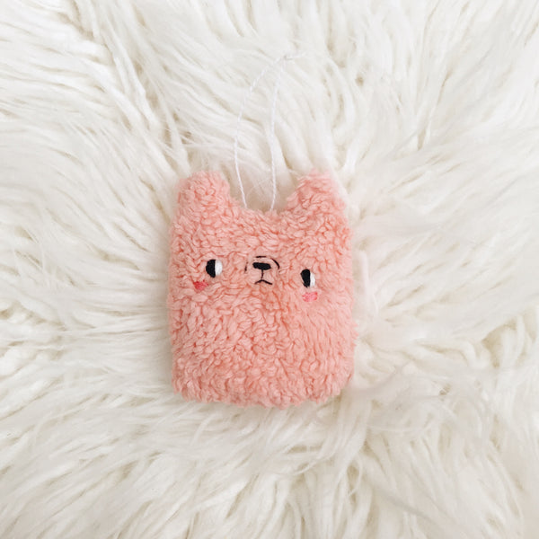 Pink Alpaca Ornament - sleepy king