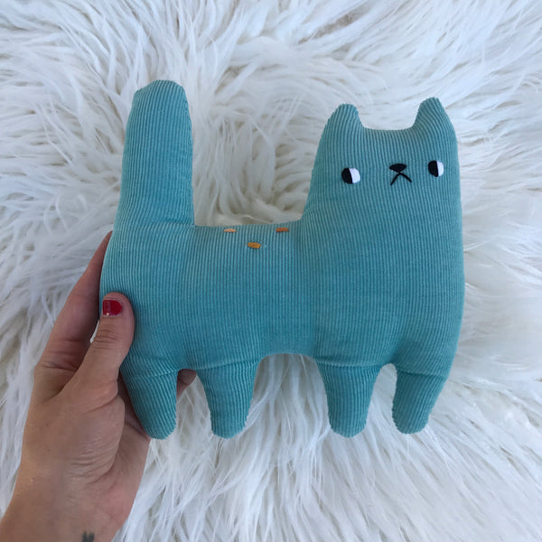 Little blue corduroy cat