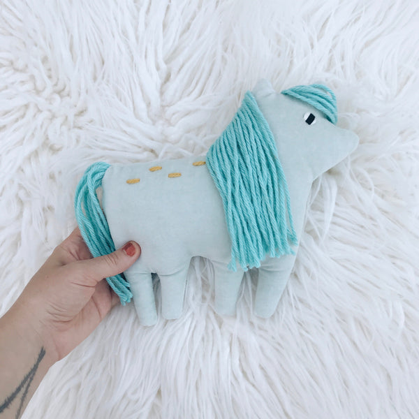 Blue Organic Cotton Pony