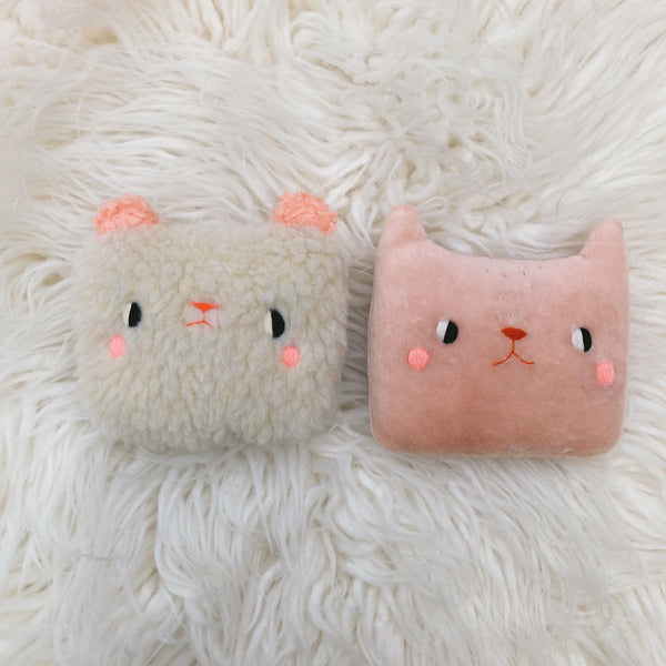 Strawberry Lemonade the Cat Pillow - Organic