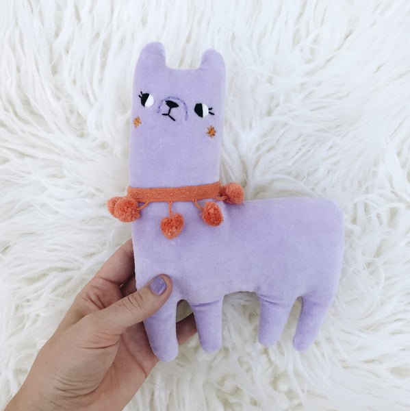 Lavender the Alpaca 〰️ Ready to Ship - sleepy king