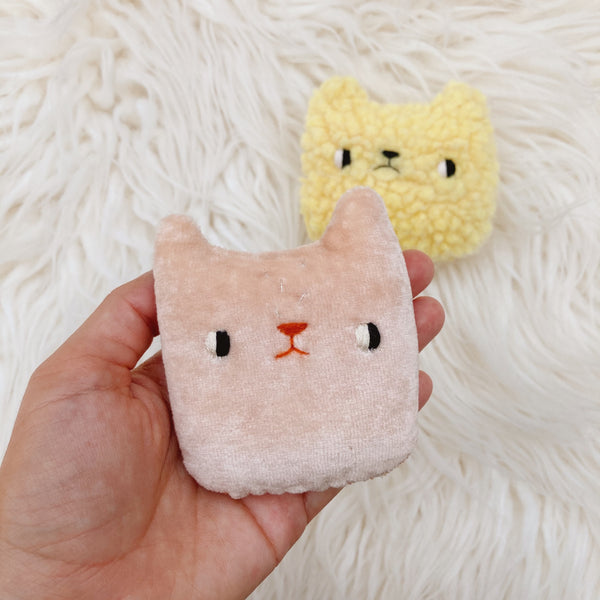 Cat and Bear Mini Pillow Set