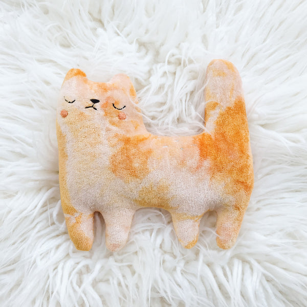 Orange Cream the tie-dyed cat - Ready to ship - sleepy king