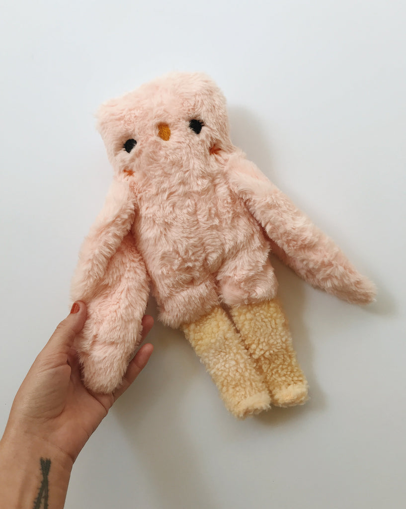 RESERVED Peony the owl - One of a kind - Ready to Ship - sleepy king