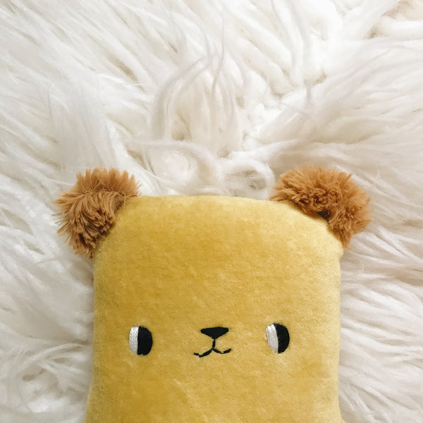 Sunflower the Organic Bamboo Bear with Furry Ears - sleepy king