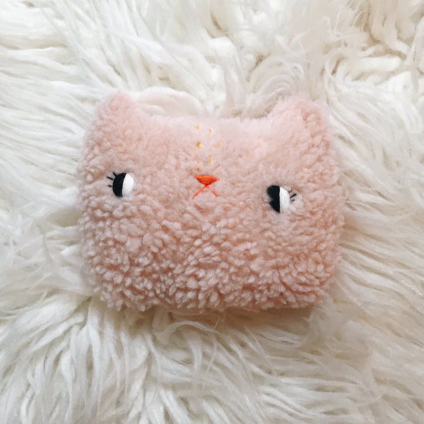 Pink Sugar Cloud Cat pillow - sleepy king