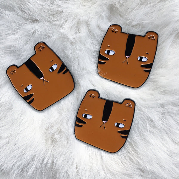 Cinnamon the Tiger - Soft Enamel Pin - Ready to Ship - sleepy king