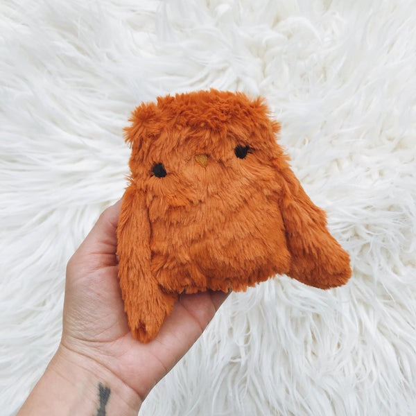 Tangerine the little owl - Ready to Ship - sleepy king