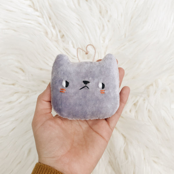 Periwinkle Cat Ornament - sleepy king