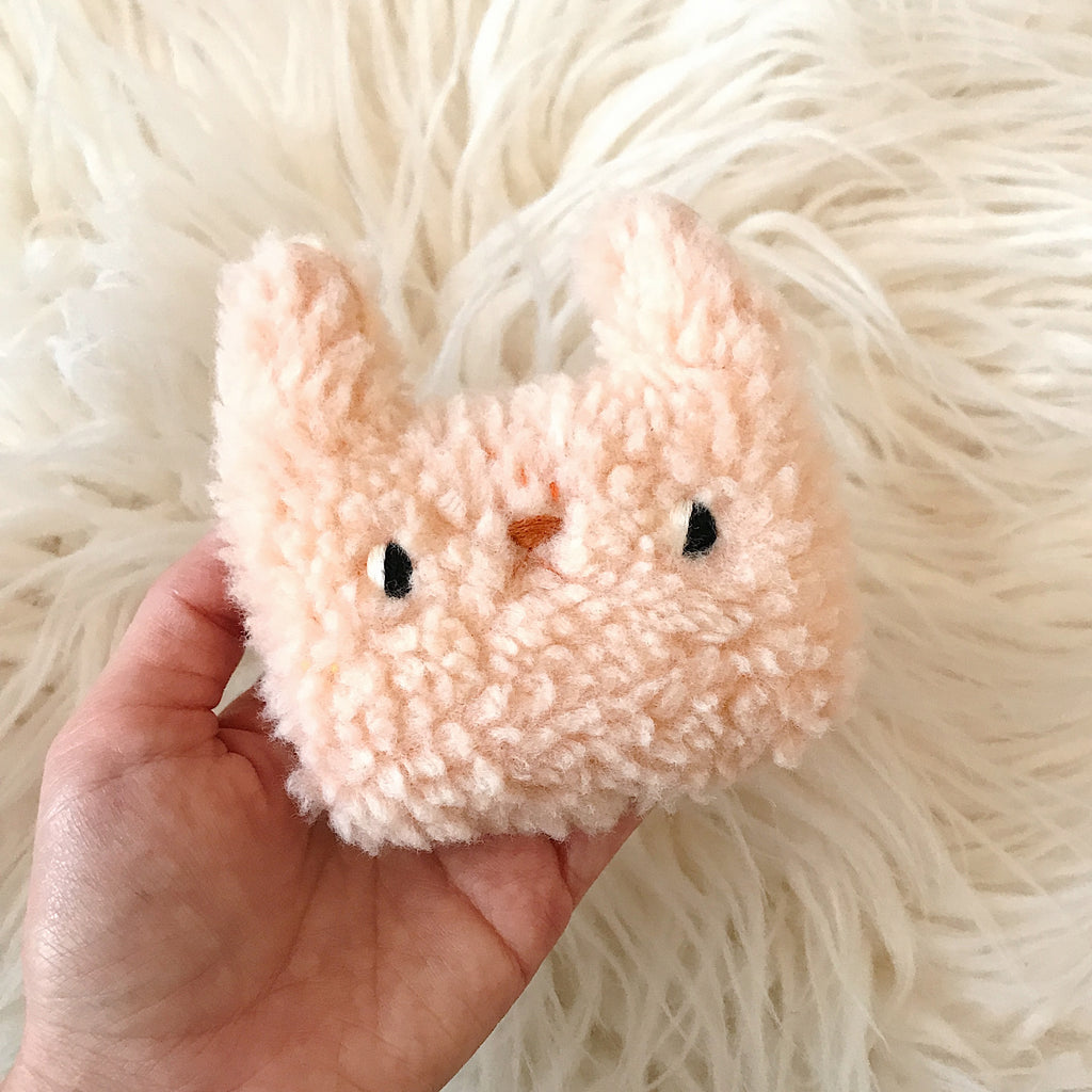 Moon the Bunny - Pocket plushie - sleepy king