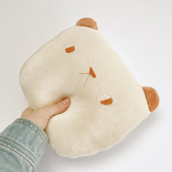 Organic cream bear cushion - Ready to ship - sleepy king
