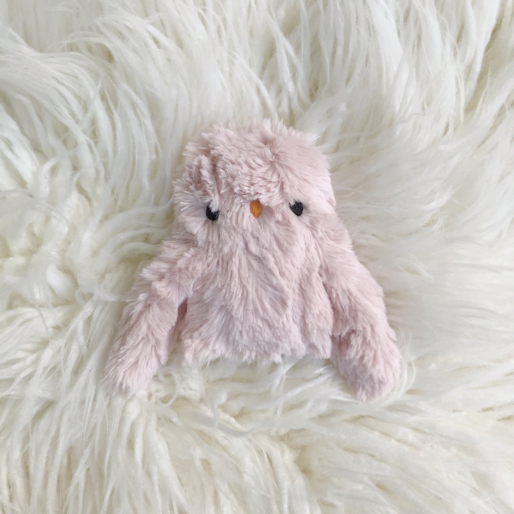Dusty pink spring owlet - Ready to ship - sleepy king