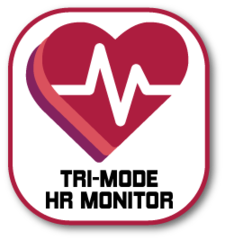 eb3262ec9a1a5 Integrated Universal Heart Rate Monitoring Technology  Snap-on tri-mode  heart rate monitor for maximum compatibility (Bluetooth low energy  technology