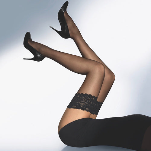 Wolford Satin Touch 20 Stay Ups black teddies for bettys