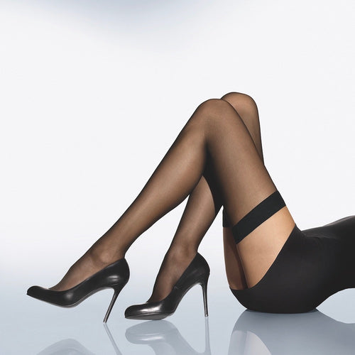 Wolford Individual 10 Stay Ups black teddies for bettys