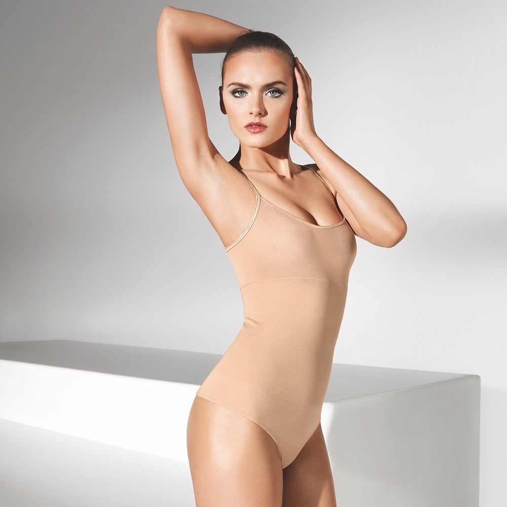 Wolford Opaque Natural Forming String Bodysuit powder teddies for bettys