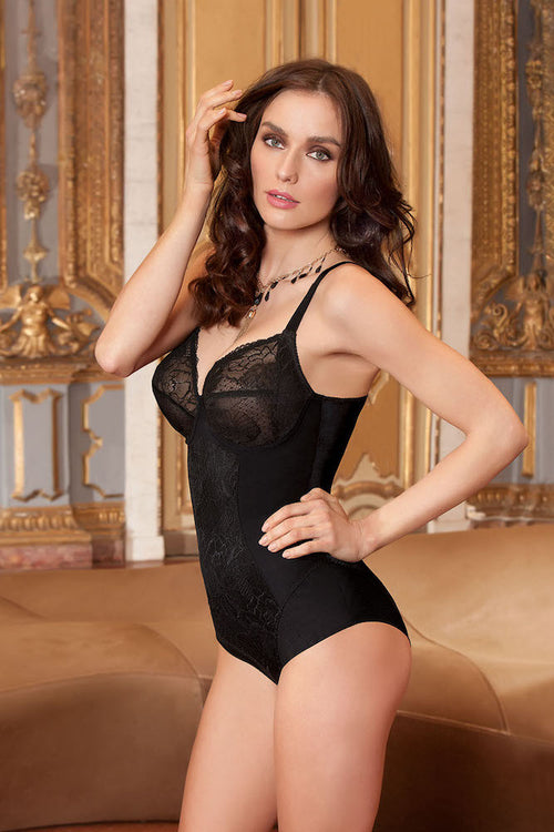 Eprise Dentelle Graphique Bodysuit Noir teddies for bettys