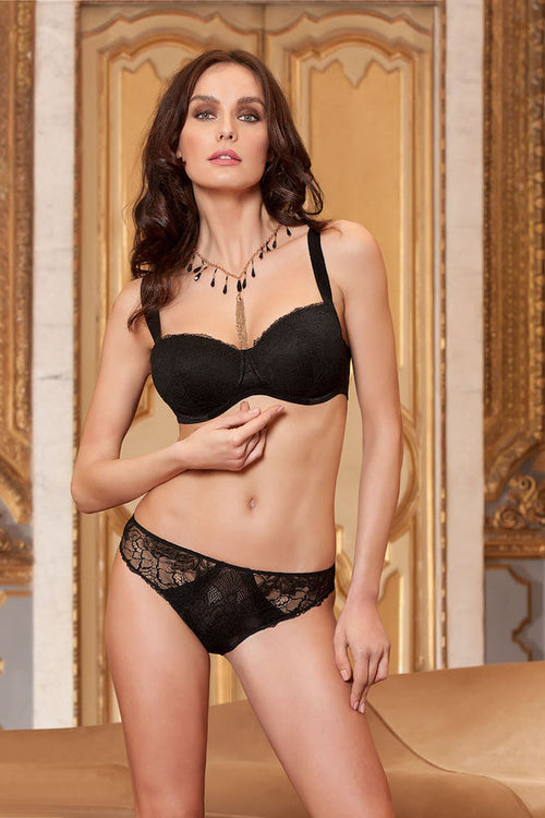 Eprise Dentelle Graphique Contour Bra Noir teddies for bettys