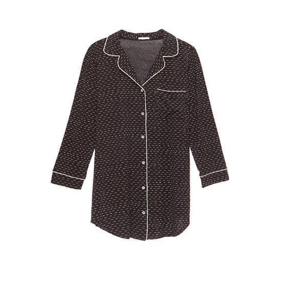 eberjey sleep chic sleepshirt domino teddies for bettys