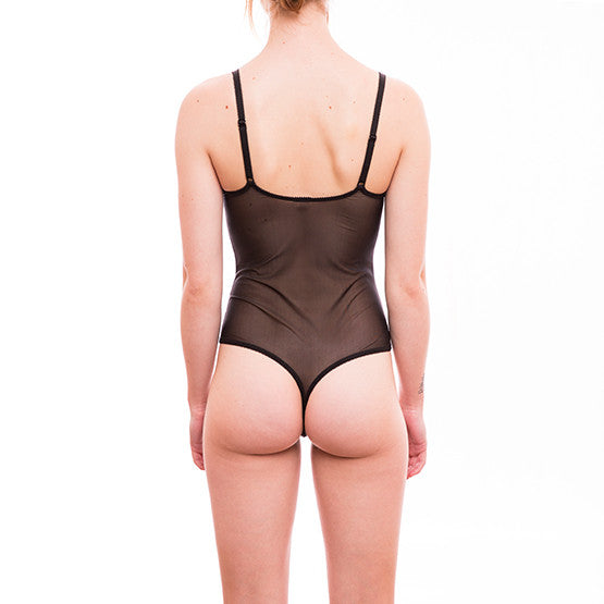 epure revelation beaute string bodysuit noir teddies for bettys