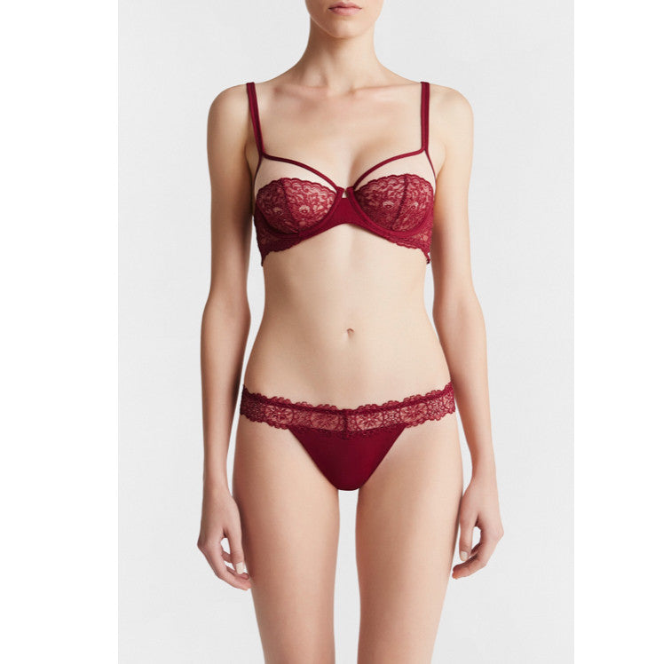 la perla charisma underwire bra bordeaux teddies for bettys
