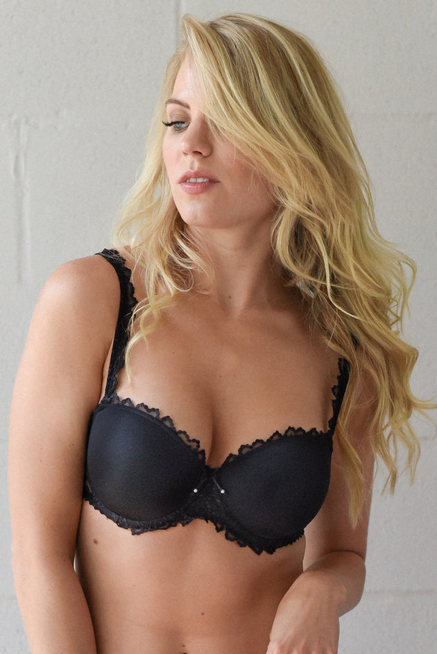 marie jo jane strapless bra black teddies for bettys