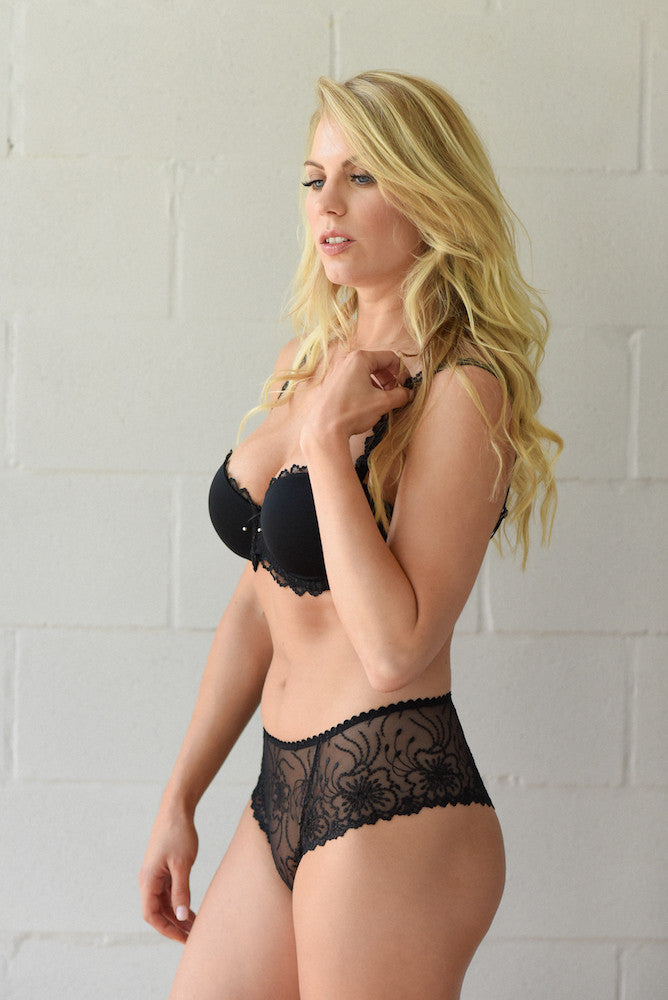 marie jo jane luxe string boyshort panty black teddies for bettys
