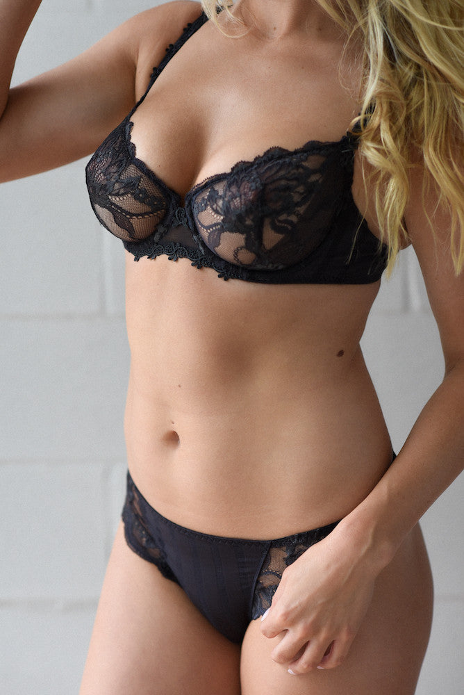 Simone Perele Amour Demi Cup Bra anthracite teddies for bettys