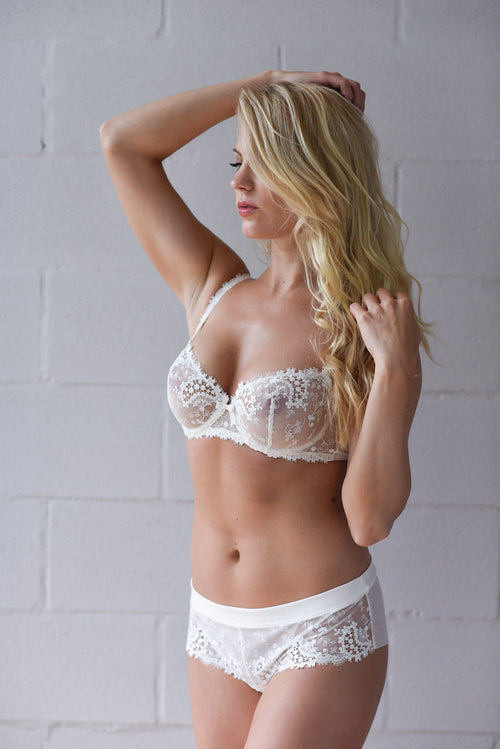Simone Perele Wish Boyshort ivory teddies for bettys