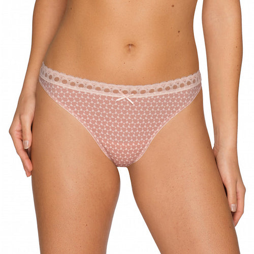 twist happiness pink thong panty peachy skin teddies for bettys