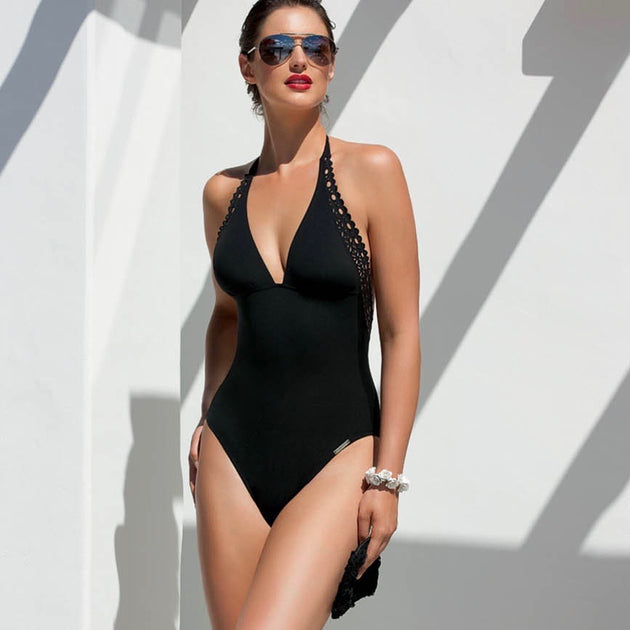 Lise Charmel Ajourage Couture Swim One Piece Swimsuit black teddies for bettys
